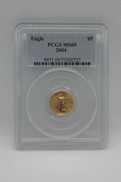 United States - 5 Dollar 2004 Gold Eagle PCGS MS69 - Gold