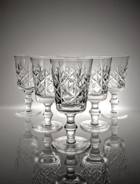 English cut crystal - Bril, wijn sherry aperitief (6) - Kristal