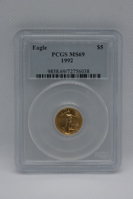 United States - 5 Dollar 1992 Gold Eagle in PCGS Slab - Gold
