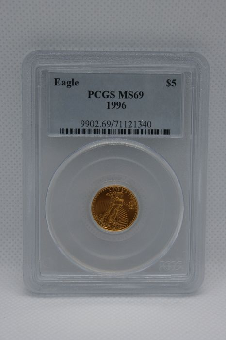 United States - 5 Dollar 1996 Gold Eagle PCGS MS69 - Gold