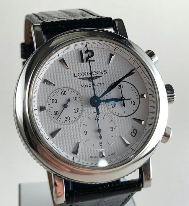 Longines - Clous de paris chronograph -  L2.704.4.16 - Heren - 2011-heden
