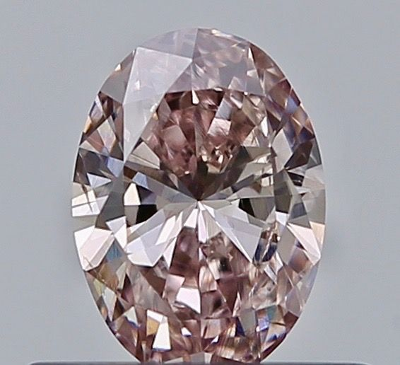 1 pcs Diamant - 0.31 ct - Ovaal - fancy brown pink - SI1