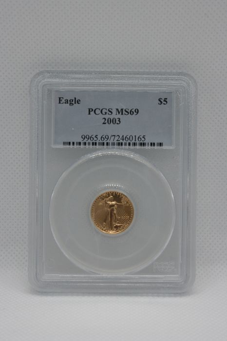 United States - 5 Dollar 2003 Gold Eagle PCGS MS69  - Gold