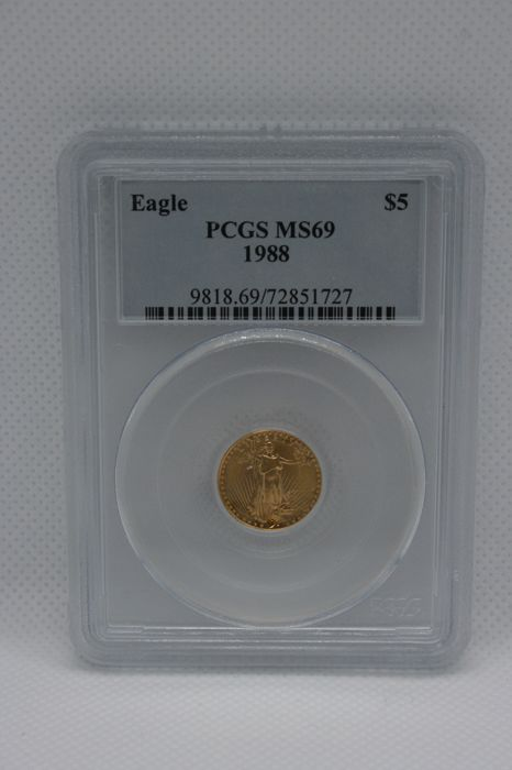 United States - 5 Dollar 1988 Gold Eagle PCGS MS69 - Gold