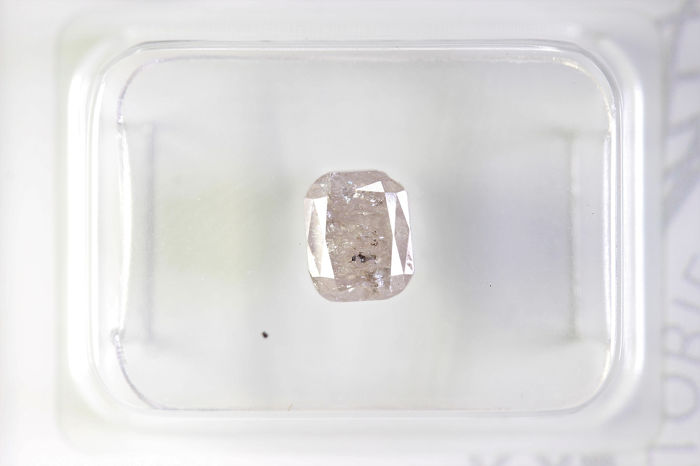 Diamant - 1.02 ct - Cushion - PINK - I3