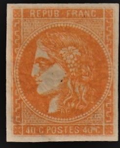 Frankrijk - Bordeaux issue, 40 centimes, orange, Calves certificate - Yvert 48