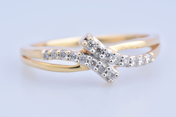 18 Yellow gold - Ring Diamond
