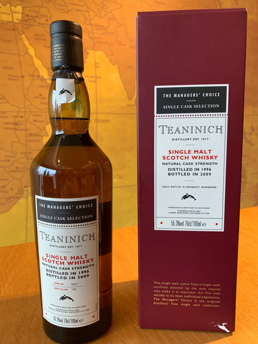 Teaninich 1996 The Managers' Choice - Single Cask Strength - b. 2009 - 700ml
