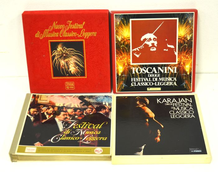 Arturo Toscanini - Herbert von Karajan - Multiple artists - Festival di Musica Classico Leggera - Multiple titles - Box set - 1960/1976