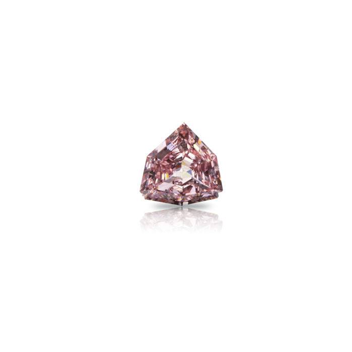 1 pcs Diamant - 0.17 ct - Vlieger - fancy orangy pink - VS1