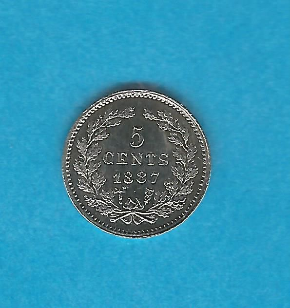 The Netherlands - 5 Cent 1887 Willem III - Silver