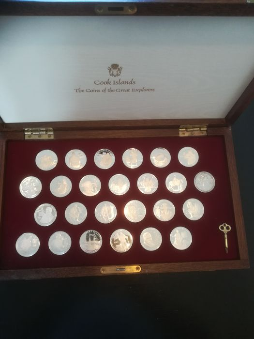 Cook Islands - 25 x 50 Dollars 1988 The Coins of the Great Explorers - Silver