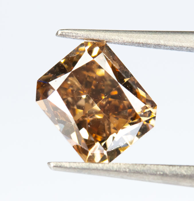 Diamante - 1.00 ct - Fantasia natural VIVIDO Orangy Brown - VS1