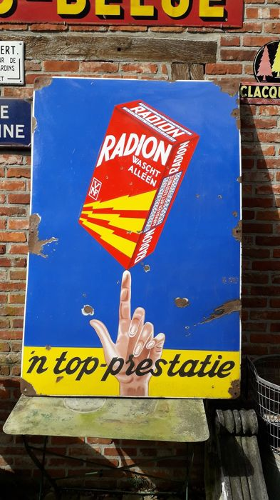emaille reclamebord Radion (1) - Staal