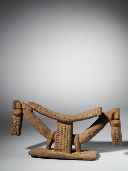 Headrest - Wood - Tellem-Dogon - Mali