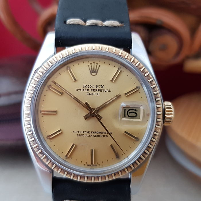 "Rolex - Oyster Perpetual Date - ""NO RESERVE PRICE"" - Ref.1500 - Heren - 1970-1979"