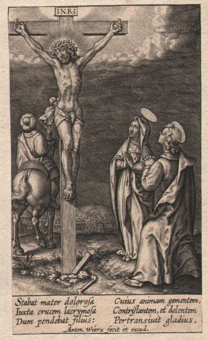 Anthony Wierix (1555- 1604) - Christ on the cross