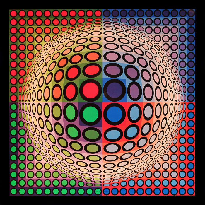 Victor Vasarely - Progression 1