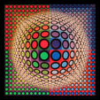 Auktion over moderne kunst (Victor Vasarely)
