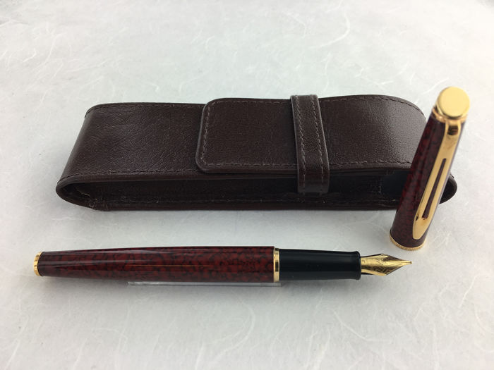Waterman - Hemisphere fountain pen mixed red + case