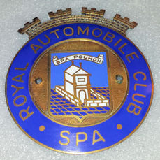 Emblem / mascot - Royal Automobile Club Spa - Geëmailleerde Grille badge - 1960