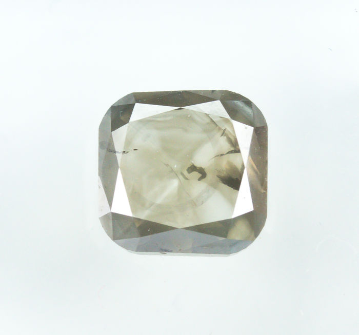 Diamant - 1.82 ct - Natural Fancy Light Grayish Brown - I1  *NO RESERVE*