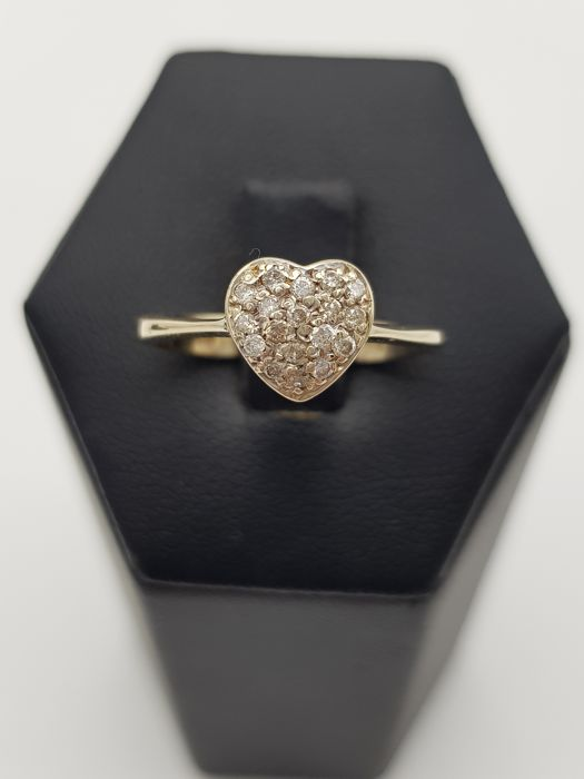 18 kt Gold - Ring - 0.20 ct Diamant - Diamant