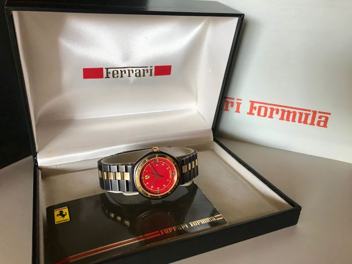 Uhr - Ferrari - Ferrari Formula Cartier small watch in original box. No Reserve. Swiss made. - 1989