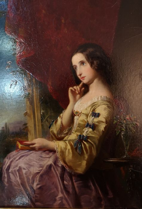 John Adam Houston R.S.A.  R. I. (1812-1884)  - Evening thoughts