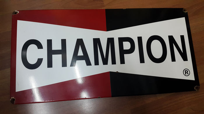 Metalen bord - Champion - 1990