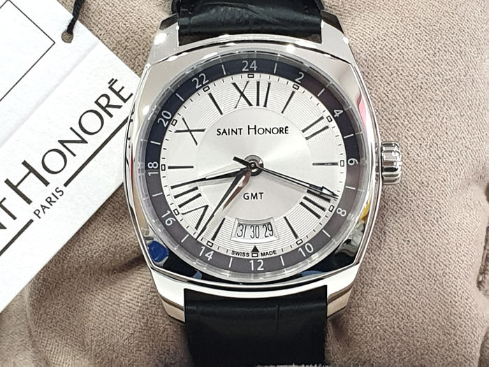 "Saint Honorè -  "" NO RESERVE PRICE "" LUTECIA GTM - Steel & Genuine Leather  - 8680161ARN - Swiss Made  - Heren - 2011-heden"