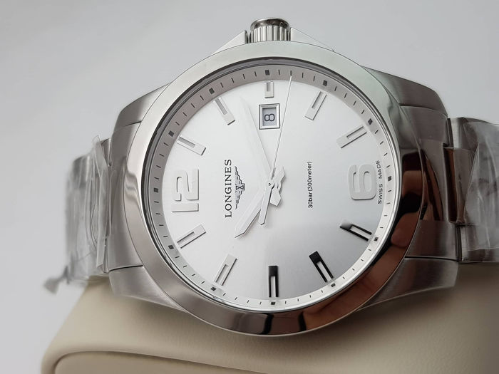 Longines - Conquest L37594766 White Silver Dial  - 46110483  - Heren - 2011-heden