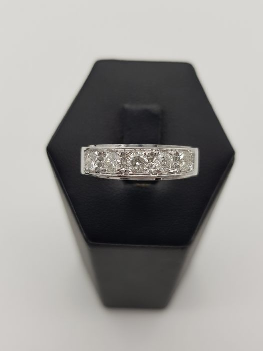 18 carats Or blanc - Bague - 1.00 ct Diamant