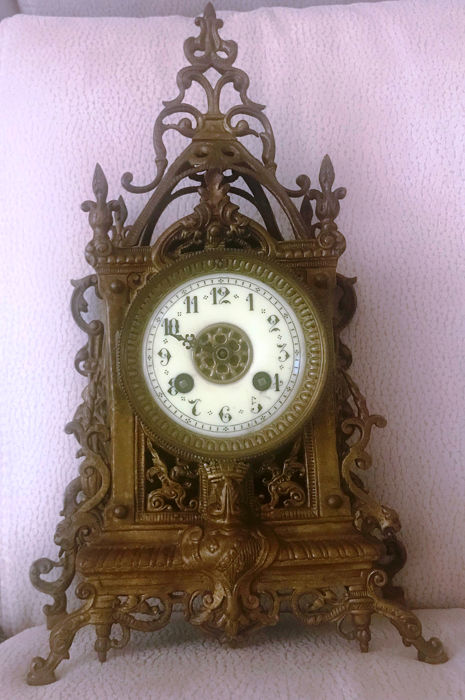 Antique table clock - Bronze - Late 19th century Clocks Clocks for sale