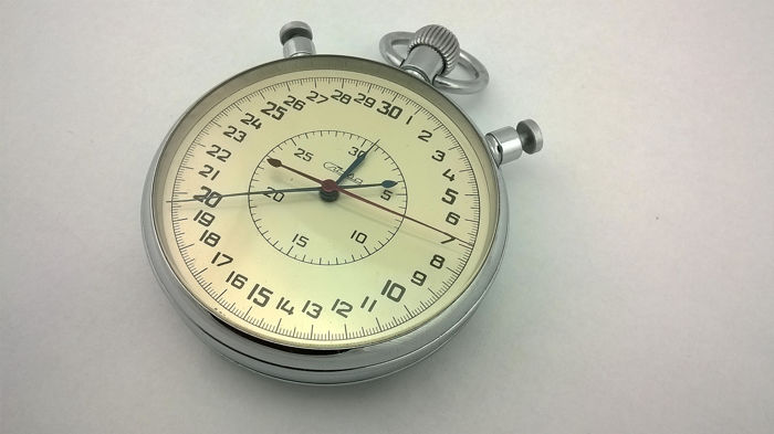 "Aviation Stopwatch Mechanische chronograaf ""Slava"" - Made in USSR - 100% origineel - Glas, Staal"
