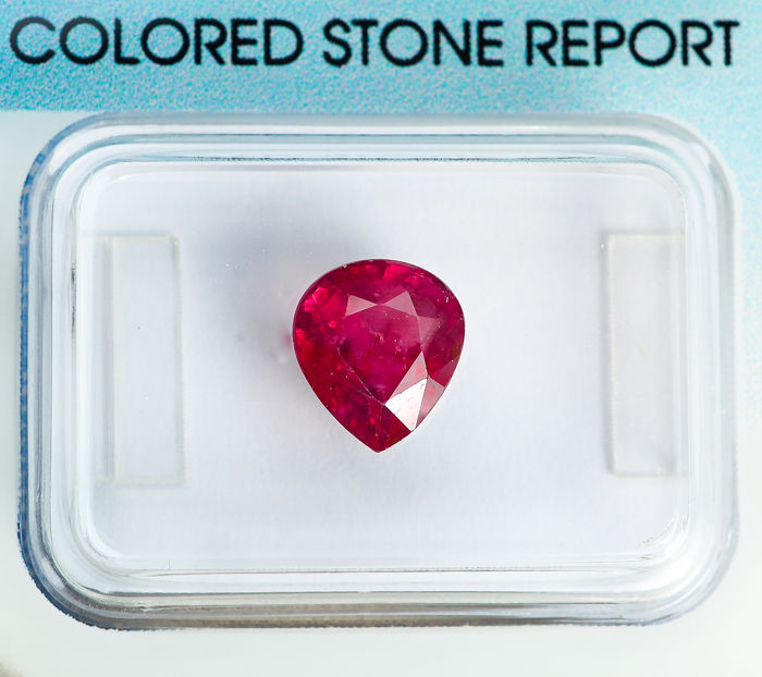 Deep Purplish Pink-Red Ruby - 2.04 ct