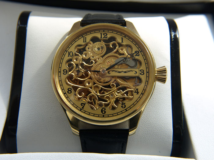 Omega - cal. 40.6 skeleton marriage watch - 5221284 - Hombre - 1901 - 1949
