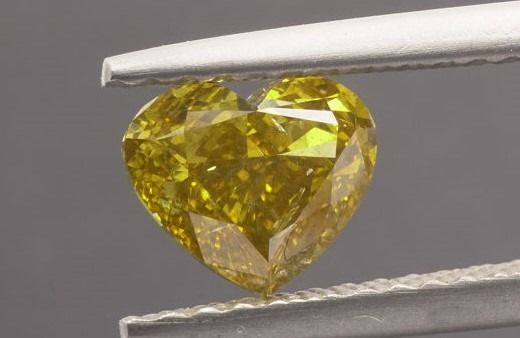 Diamant - 1.01 ct - Herz - fancy vivid yellow - SI2