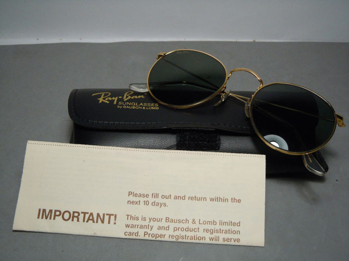 Gafas Vintage 90's Lomb Arista By Round Catawiki Sol De Bauschamp; Plated Ray Ban 24k Gold Y6yvbfg7