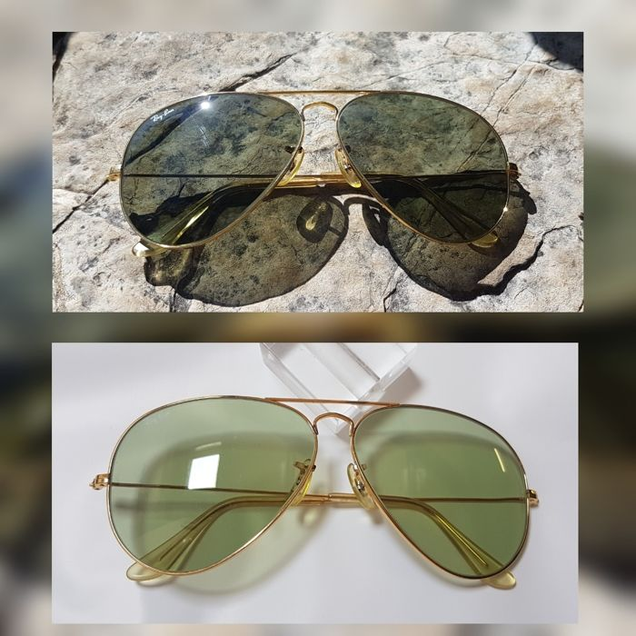 Bausch and Lomb Ray Ban Usa  - Classic Metal - Changeable Green Zonnebril