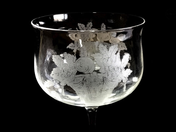 The jugendstil Crystal Cup - Monogram Josef - Crystal