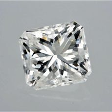 1 pcs Diamant - 1.00 ct - Radiant - E - VVS2
