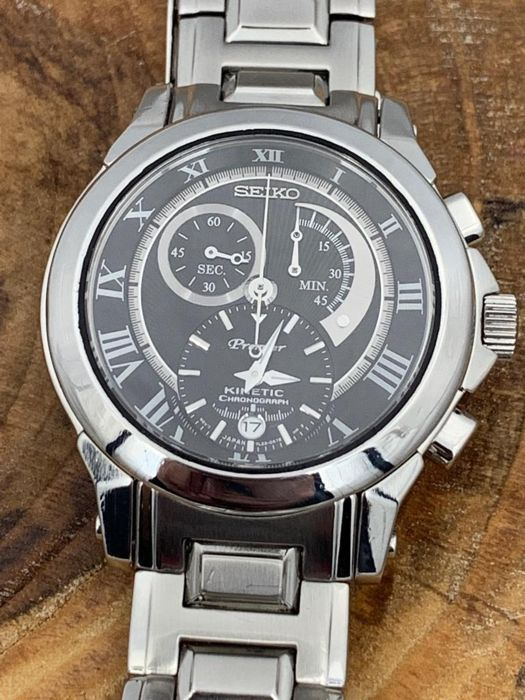 "Seiko - ""NO RESERVE PRICE""  Premier Kinetic Chronograph - SNL041P - Heren - 2011-heden"