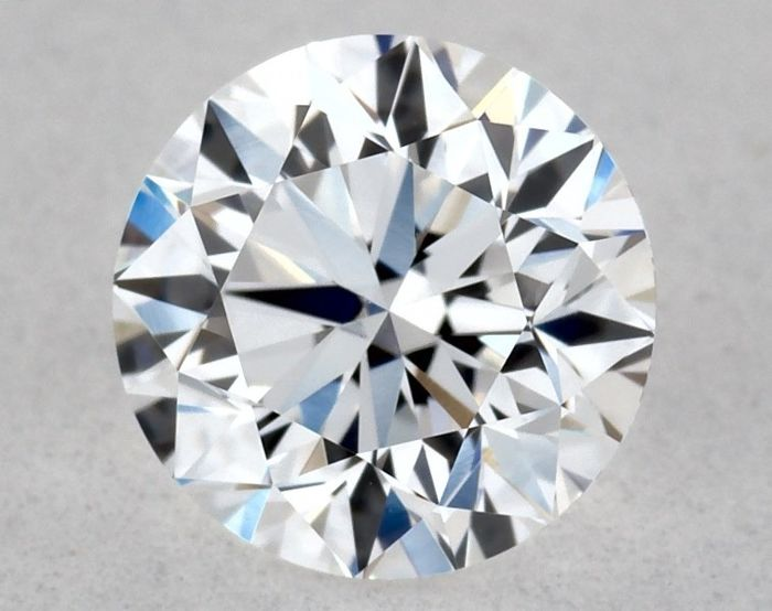 1 pcs Diamante - 0.51 ct - Brillante, Redondo - D (incoloro) - VVS2
