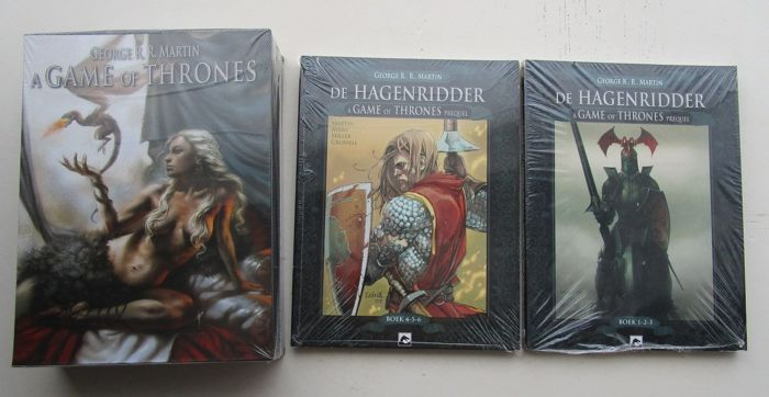 A game of thrones 1 t/m 12 in box - De hagenriddder 1 tot 6 - Softcover - Verschillende drukken - (2013/2016)