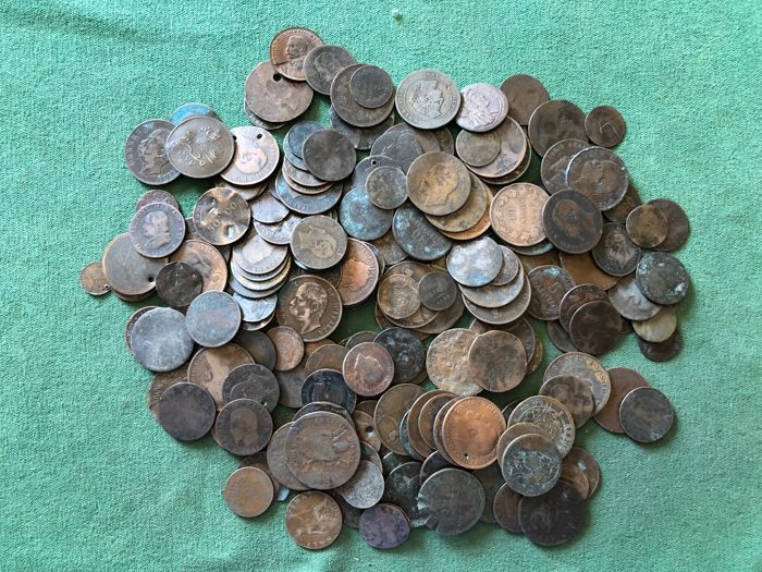 World - Lot various old coins (200 pieces) - Catawiki