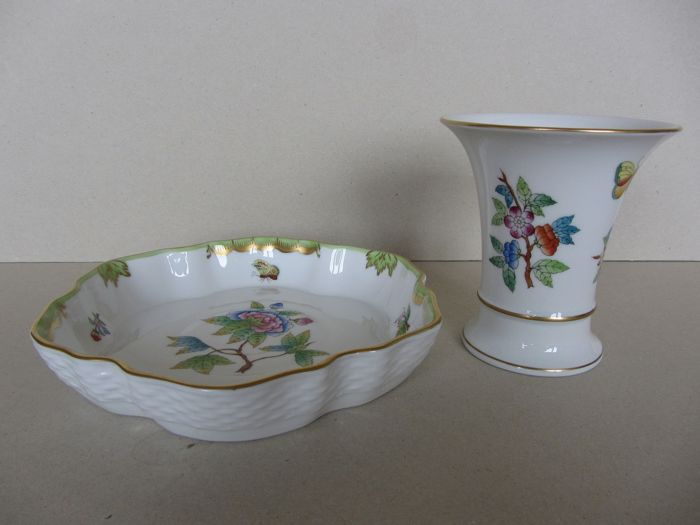 Herend - Queen Victoria - Miska na owoce i wazon - Porcelany