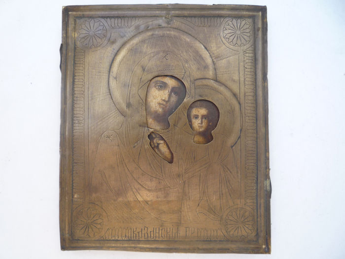 Russian icon Our Lady Hodegetria of Kazan - Wood