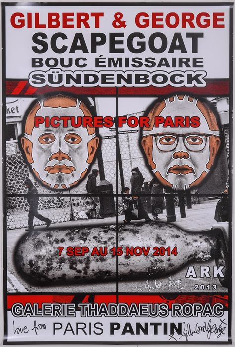 Gilbert & George - Scapegoat, Galerie Thaddaeus Ropac (signed) - 2013