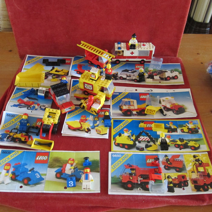 LEGO - Legoland - 12 sets Legoland a.o 6680 6651 with manuals